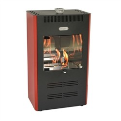 Tecno Air System Stove Bioethanol 3000W ventilated remote Bordeaux RUBY UNIKA