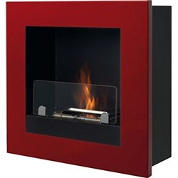 Tecno Air System Ruby Fireplace Bioethanol, Model Asolo, Painted steel, Red