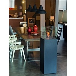Tecno Air System Bio-fireplace OTRANTO - 1.5kW - Painted Steel Black