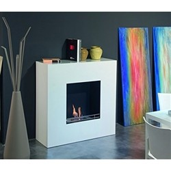 Tecno Air System Bio-fireplace MILAN - 2.5kW - White Steel