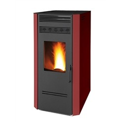 Ruby Pellet stove, Model Civetta, Wellness System, Steel, Bordeaux