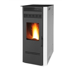 Ruby Pellet stove, Model Marmolada, Wellness System, Steel, White