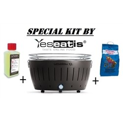 NEW KIT by YESEATIS 2017 -Barbecue XL+high performance Charcoal and gel-BLACK