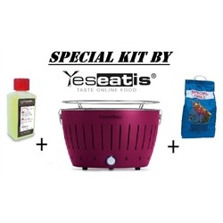 NEW KIT by YESEATIS 2017 -Barbecue +high performance Charcoal and gel-PURPLE