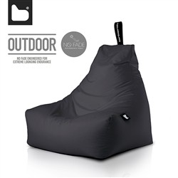 B-Bag by Extreme Lounging  Poltrona a Sacco OUTDOOR - b-bag mighty-b Black - Resistente all'acqua - 100% Polyester - Resistente
