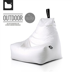B-Bag by Extreme Lounging  Poltrona a Sacco OUTDOOR - b-bag mighty-b White - Resistente all'acqua - 100% Polyester - Resistente