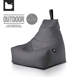 B-Bag by Extreme Lounging  Poltrona a Sacco OUTDOOR - b-bag mighty-b Grey - Resistente all'acqua - 100% Polyester - Resistente