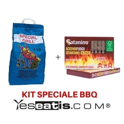 4 Kg Carbobois Charcoal + 24 Instant Firelighter matches Satanino 100% Vegetal