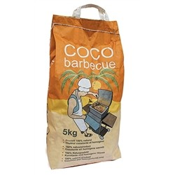 Barbecue Charcoal Briquette Coconut Coir Barbecue Basis of Walnut Shell Bag - 3 kg