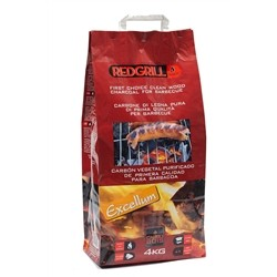 Charcoal for Barbecue Red Grill excellum of Firewood Pure - 6 kg Bag