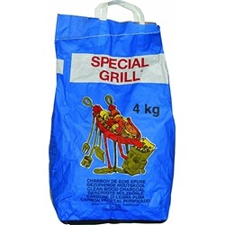 Charcoal for Barbecue Special Grill of Firewood Pure - 4 kg Bag