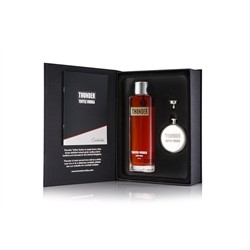 Thunder Toffee Vodka - Gift pack with 70cl bottle + fiask and pouring funnel + cocktail book