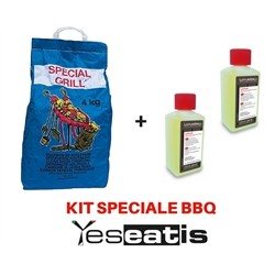 Kit Barbecue - 2 x 200ml Firelighter Gel original Lotusgrill + 2 x 2Kg Pure Wood Charcoal