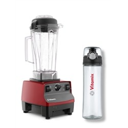 Vitamix Cration Red + beverage bottle