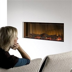 maisonFire Faber - VEGA - Electric fireplace Silver selection