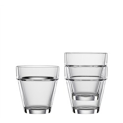 4 Crystal Glasses Bistrò Tumbler M -200ml