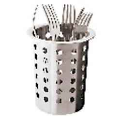 Stainless steel cutlery basket