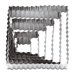 Paderno size pasta framework serrated Stainless Steel