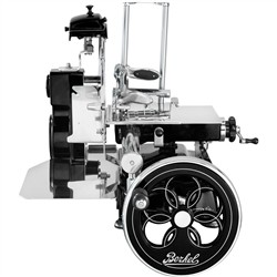 Berkel - FLYWHEEL SLICER TRIBUTE BLACK with Silver Decors and Flowered Flywheel