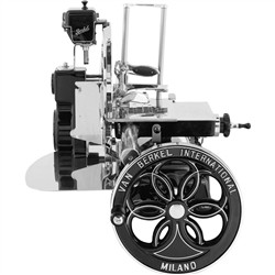BERKEL Berkel - Flywheel Slicer - Mod. B114 Novelty 2018 - Black with Silver Decors and Flowered Flywheel