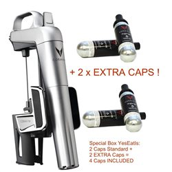 Coravin Model 2 ELITE Silver - 2 extra capsules included!