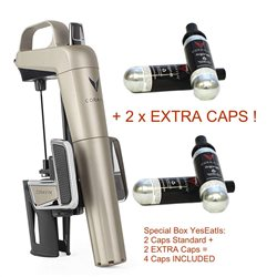 Coravin Model 2 ELITE Pack - Wine Growth System - 2 EXTRA-INCLUDED CAPSULE!