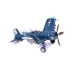 Nitsche Germany  Original Metal Collectible Model - Corsair 1944 Airplane - 33x37x15 cm