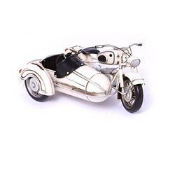 Nitsche Germany  BMW R 60 motorcycle model with sidecar, white - heliobil tin