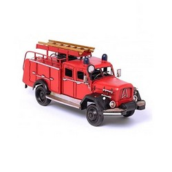 Nitsche Germany  Original Metal Collectible Model - Fire Brigade Truck, German, 1960 - 33x12x15 cm