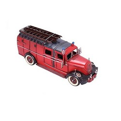 Nitsche Germany  Fire Truck Magirus Round Chassis LF 16 - Retro Tin Model