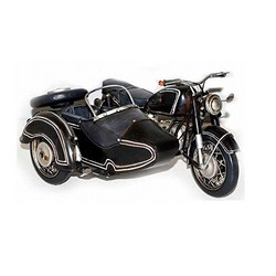 Nitsche Germany  Model Motorcycle BMW R-Series Sidecar - Retro Tin Model