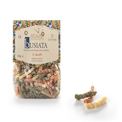 Handmade Sicilian Busiata Pasta in 3 Colours - 300g Package