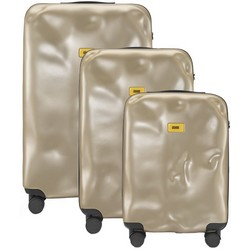 Crash Baggage Trolley Icon Line - Set of Three Pieces (Cabin Baggage, Medium, Large) - Metal Gold