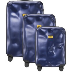 Trolley Icon Line - Set of Three Pieces (Cabin Baggage, Medium, Large) - Metal Navy