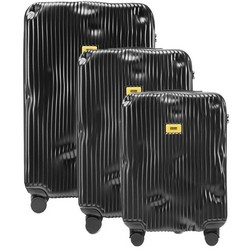 Trolley Stripe Line - Set of Three Pieces (Cabin Baggage, Medium, Large) - Black
