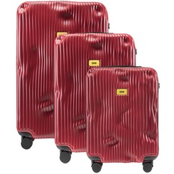 Trolley Stripe Line - Set of Three Pieces (Cabin Baggage, Medium, Large) - Red