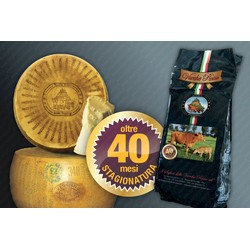 Parmigiano Reggiano Vacche Rosse Whole Wheel - Over 40 Months ''RISERVA'' - 36 Kg Approximat