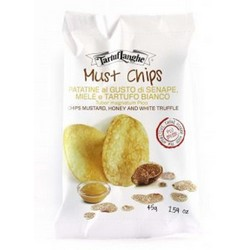 TartufLanghe MUST chips flavoured with honey mustard and White Truffle - 18 Packs of 45g