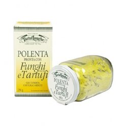 TartufLanghe READY POLENTA with PORCINI MUSHROOMS and TRUFFLE - 12 Packs of 250g