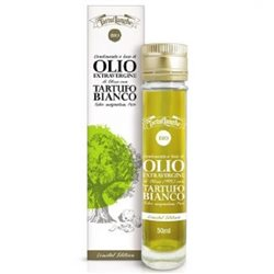 TartufLanghe Organic Oil with white truffle Tuber Magnatum Pico - 6 Bottles of 50 ml