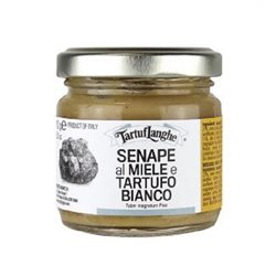 TartufLanghe MUSTARD WITH HONEY AND WHITE TRUFFLE Tuber magnatum pico - 12 Packs of 100g