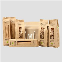 Farm MANCINI Gift Boxes - Pack Containing 3kg of Turanici Wheat Line in 500g Papaer Bag