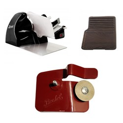 Home Line 200 Black + Cutting Board Heat-Treated ash Wood + Accessory Sharpener for Home Line
