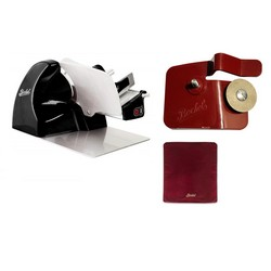Home Line 200 Black + Slicer Cover Red Size M + Accessory Sharpener for Home Line