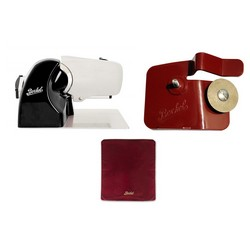 Home Line 250 Black + Slicer Cover Red Size M + Accessory Sharpener for Home Line