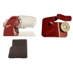 Home Line 200 Red + Cutting Board Heat-Treated ash Wood + Accessory Sharpener for Home Line