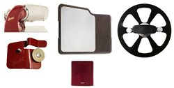 Home Line 200 Red + Cutting Board with Inox Plate + Cover + Blade Extractor + Sharpener