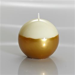Meloria Italian Luxury Candles - Ivory / Gold Sphere Candle - Glamor Line - Ø 150 mm