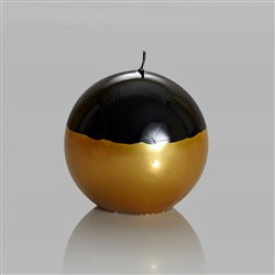 Meloria Italian Luxury Candles - Sfera Candle Black / Gold - Glamor Line - Ø 150 mm
