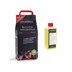 LotusGrill - KIT Beech Charcoal 2,5 kg + 1 pack of 500 ml fuel gel